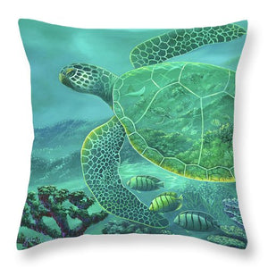 Glass Turtle - Throw Pillow
