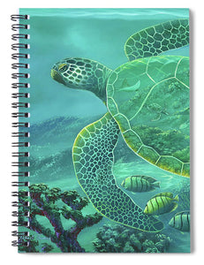 Glass Turtle - Spiral Notebook