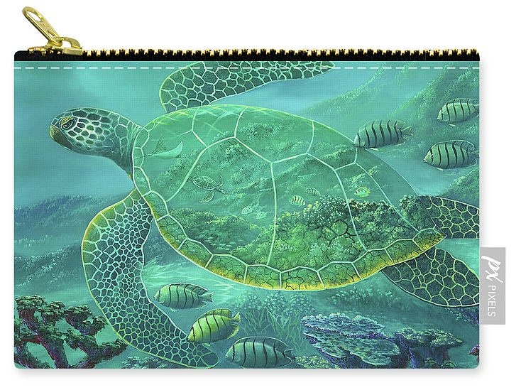 Glass Turtle - Carry-All Pouch