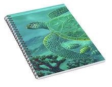 Load image into Gallery viewer, Glass Turtle - Spiral Notebook