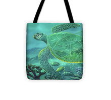 Load image into Gallery viewer, Glass Turtle - Tote Bag