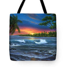 Load image into Gallery viewer, Hawaiian Sunset In Kona - Tote Bag