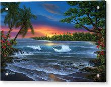 Load image into Gallery viewer, Hawaiian Sunset In Kona - Acrylic Print