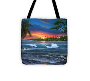 Hawaiian Sunset In Kona - Tote Bag