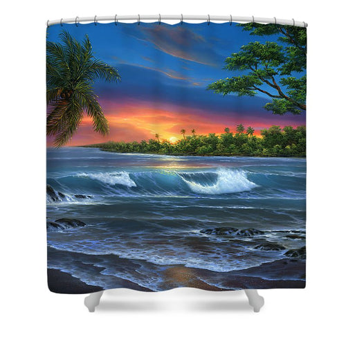 Hawaiian Sunset In Kona - Shower Curtain