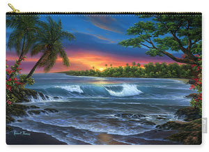 Hawaiian Sunset In Kona - Carry-All Pouch