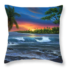Load image into Gallery viewer, Hawaiian Sunset In Kona - Throw Pillow