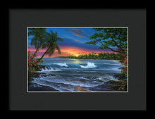 Load image into Gallery viewer, Hawaiian Sunset In Kona - Framed Print