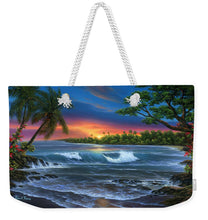 Load image into Gallery viewer, Hawaiian Sunset In Kona - Weekender Tote Bag