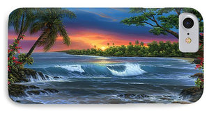 Hawaiian Sunset In Kona - Phone Case