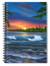 Load image into Gallery viewer, Hawaiian Sunset In Kona - Spiral Notebook
