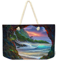 Load image into Gallery viewer, Kauai Seacave - Weekender Tote Bag