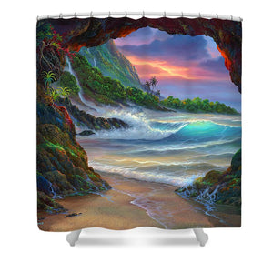 Kauai Seacave - Shower Curtain