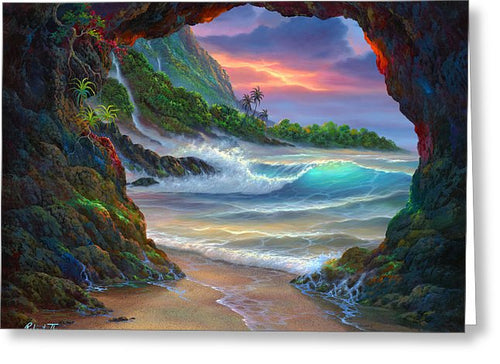 Kauai Seacave - Greeting Card