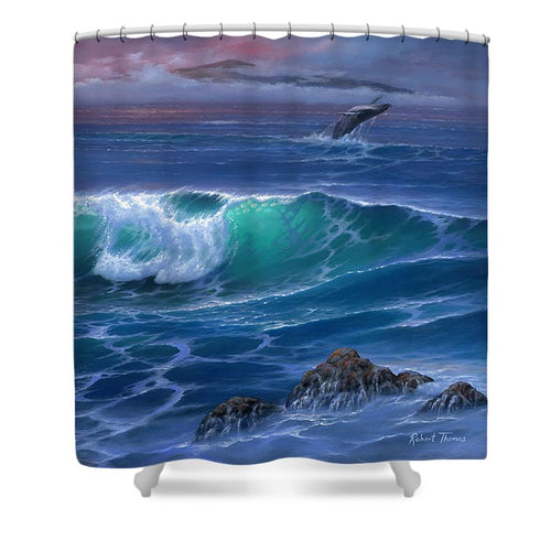 Maui Whale - Shower Curtain