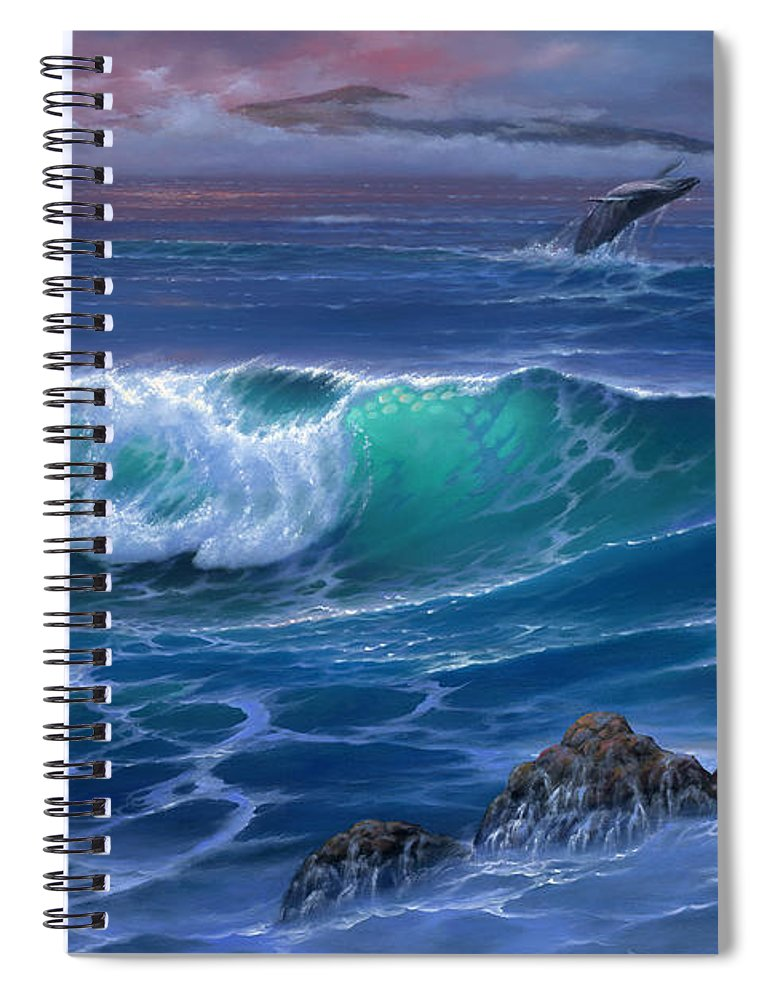 Maui Whale - Spiral Notebook