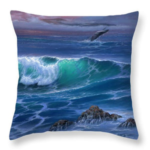 Maui Whale - Throw Pillow