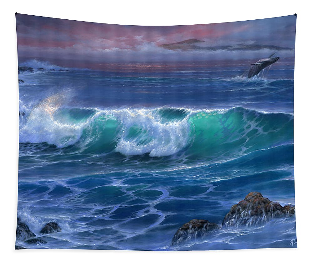 Maui Whale - Tapestry