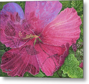 Pink Hibiscus Dream - Metal Print
