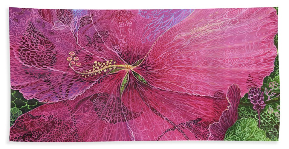 Pink Hibiscus Dream - Beach Towel