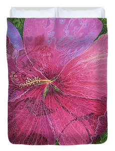 Pink Hibiscus Dream - Duvet Cover