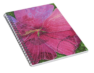 Pink Hibiscus Dream - Spiral Notebook