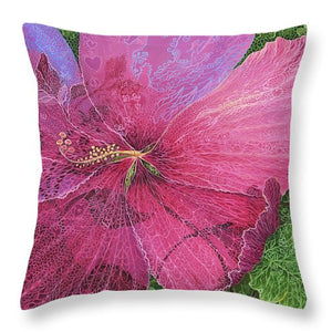 Pink Hibiscus Dream - Throw Pillow