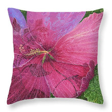 Load image into Gallery viewer, Pink Hibiscus Dream - Throw Pillow