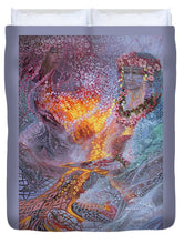 Load image into Gallery viewer, Sisterly Love With Goddess Pele And Namakaokahai - Duvet Cover