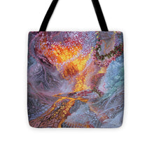 Load image into Gallery viewer, Sisterly Love With Goddess Pele And Namakaokahai - Tote Bag