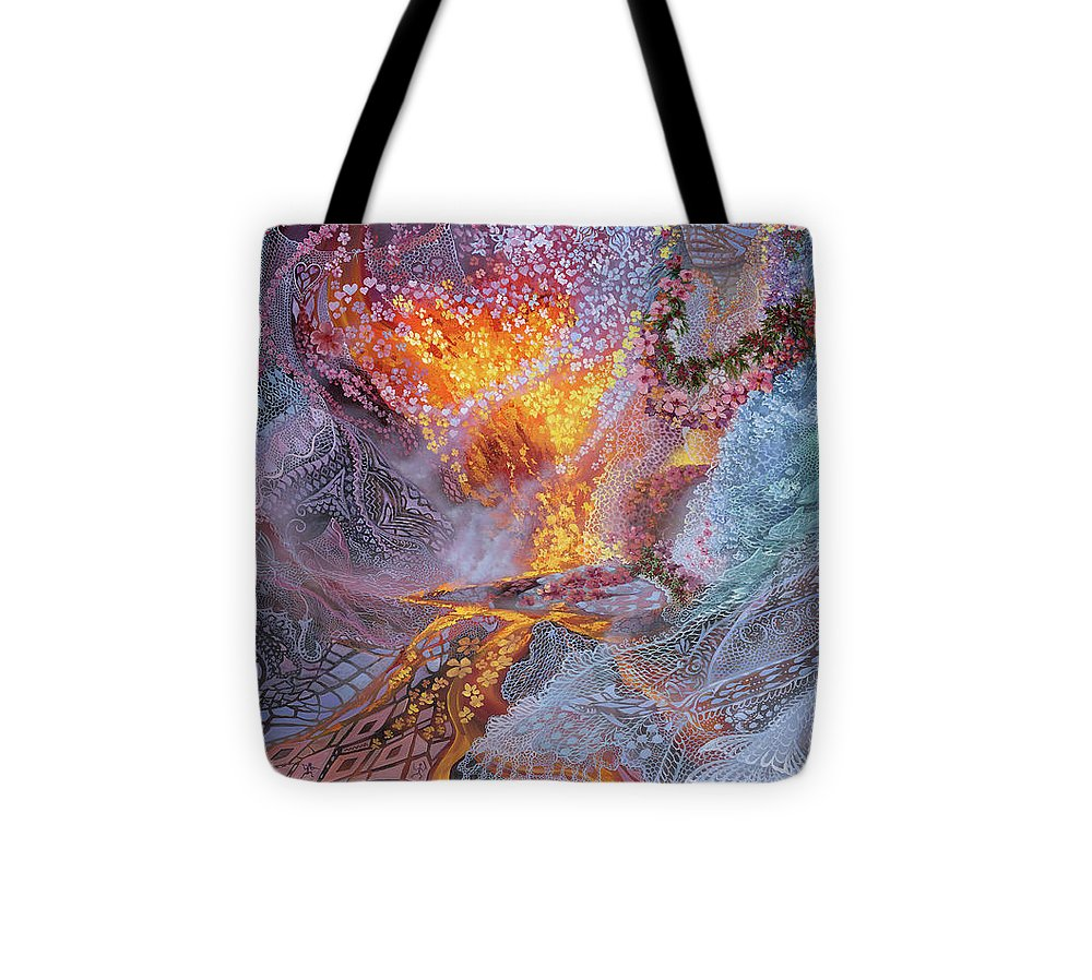 Sisterly Love With Goddess Pele And Namakaokahai - Tote Bag