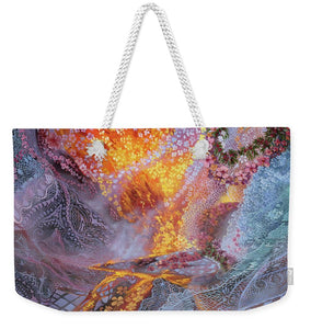 Sisterly Love With Goddess Pele And Namakaokahai - Weekender Tote Bag