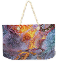Load image into Gallery viewer, Sisterly Love With Goddess Pele And Namakaokahai - Weekender Tote Bag