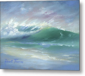 Soft Palette Knife Wave - Metal Print