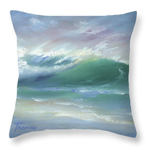 Soft Palette Knife Wave - Throw Pillow