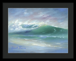 Soft Palette Knife Wave - Framed Print