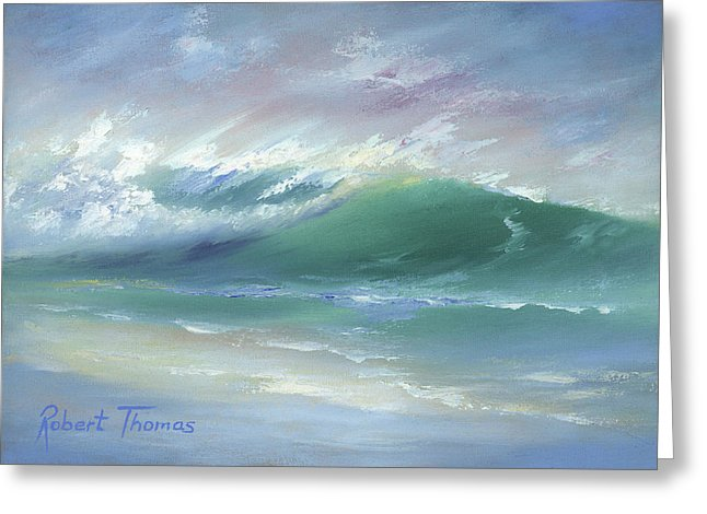 Soft Palette Knife Wave - Greeting Card