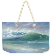 Load image into Gallery viewer, Soft Palette Knife Wave - Weekender Tote Bag