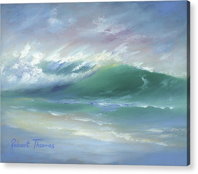 Soft Palette Knife Wave - Acrylic Print