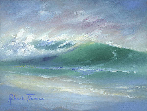 Soft Palette Knife Wave - Art Print