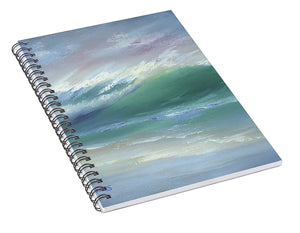 Soft Palette Knife Wave - Spiral Notebook