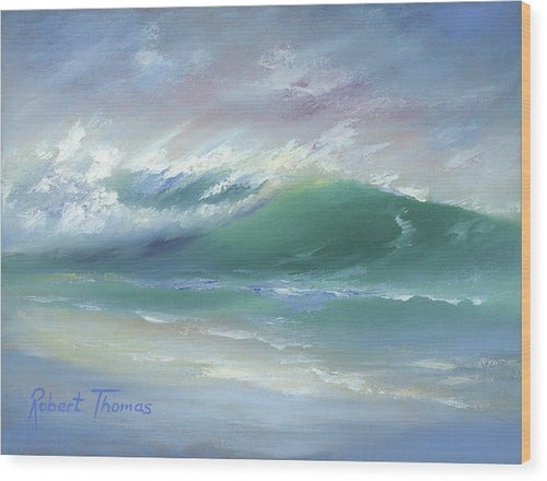 Soft Palette Knife Wave - Wood Print