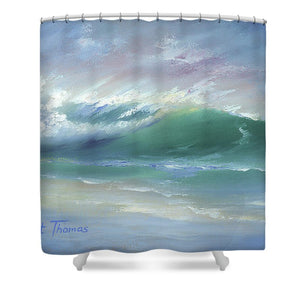 Soft Palette Knife Wave - Shower Curtain