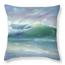 Load image into Gallery viewer, Soft Palette Knife Wave - Throw Pillow