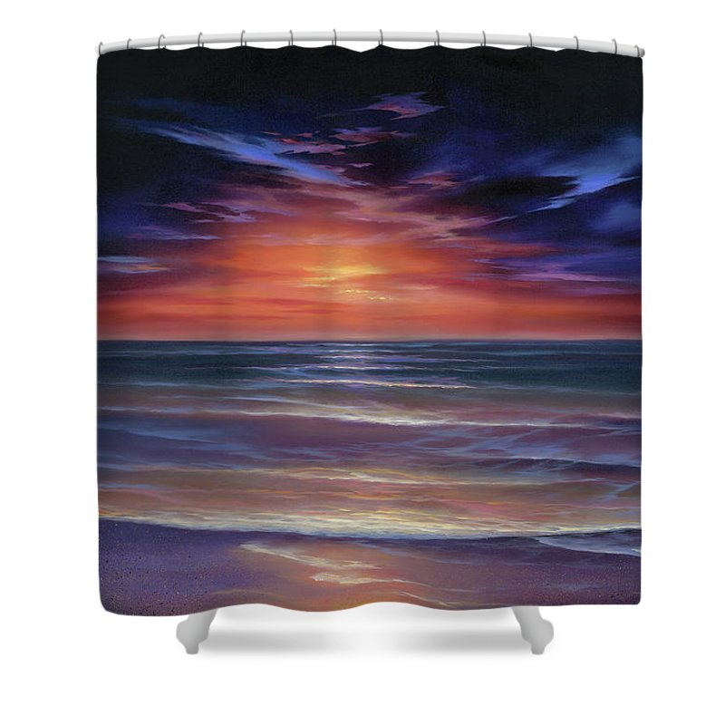 Sunset Purple Haze - Shower Curtain