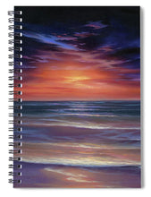 Load image into Gallery viewer, Sunset Purple Haze - Spiral Notebook