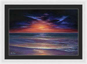 Sunset Purple Haze - Framed Print