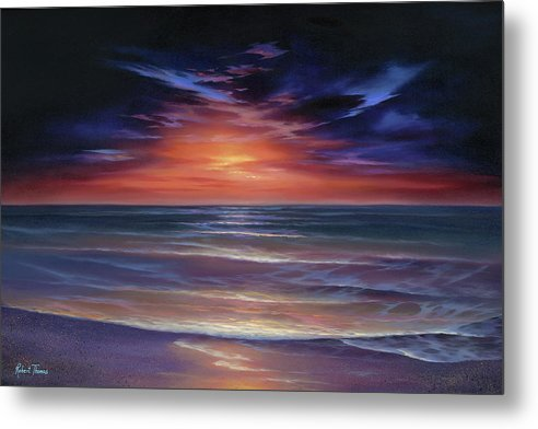 Sunset Purple Haze - Metal Print