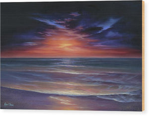 Sunset Purple Haze - Wood Print