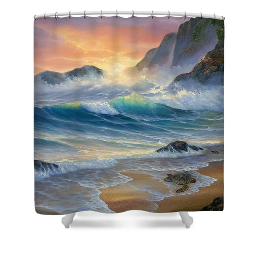 Turtle Beach - Shower Curtain